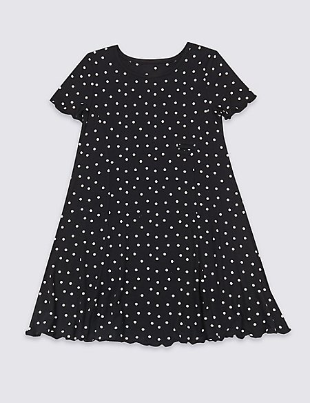 Easy Dressing Spotted Dress (3-16 Years)