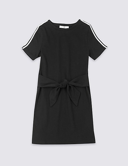 Pure Cotton Tie Front Dress (3-16 Years)