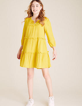 Pure Cotton Tiered Dress