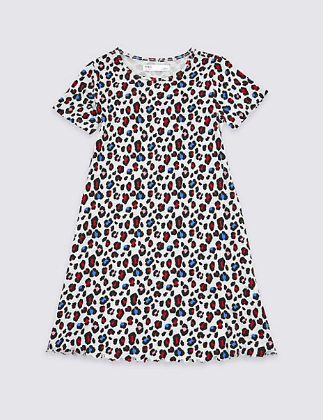 Leopard Print Dress (3-16 Years)