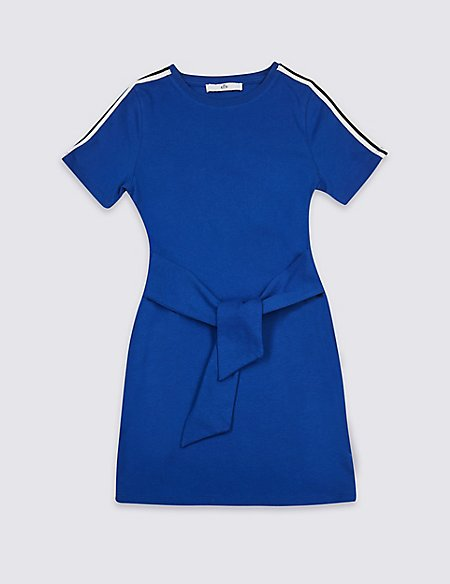 Tie Front Pure Cotton Dress (3-16 Years)