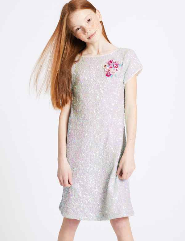 c23324a33fa56 Sequin Shift Dress (3-16 Years)