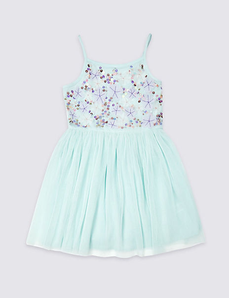 Embellished Pleated Dress (3-16 Years)