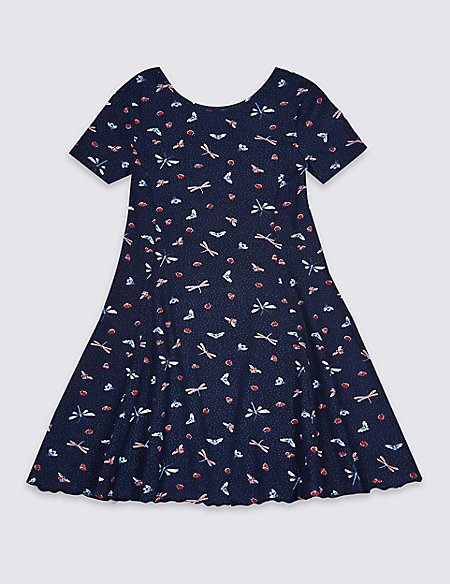 Dragonfly Print Dress (3-16 Years)
