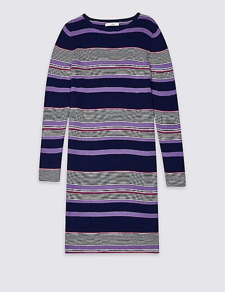 Cotton Rich Knitted Dress (3-16 Years)