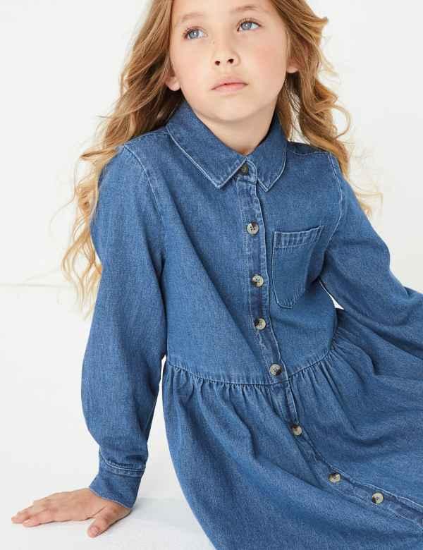 c7813ad039af Denim Shirt Dress (3-16 Years)