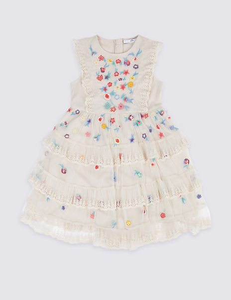 Embroidered Lace Dress (3-16 Years)