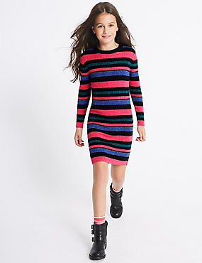 Cotton Rich Knitted Dress (3-14 Years)