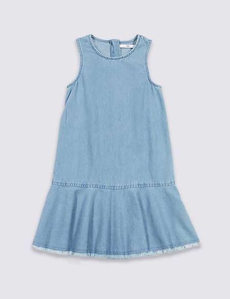 Drop Waist Pure Cotton Dress (3-16 Years)