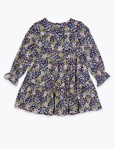 Tiered Floral Dress (3-16 Years)