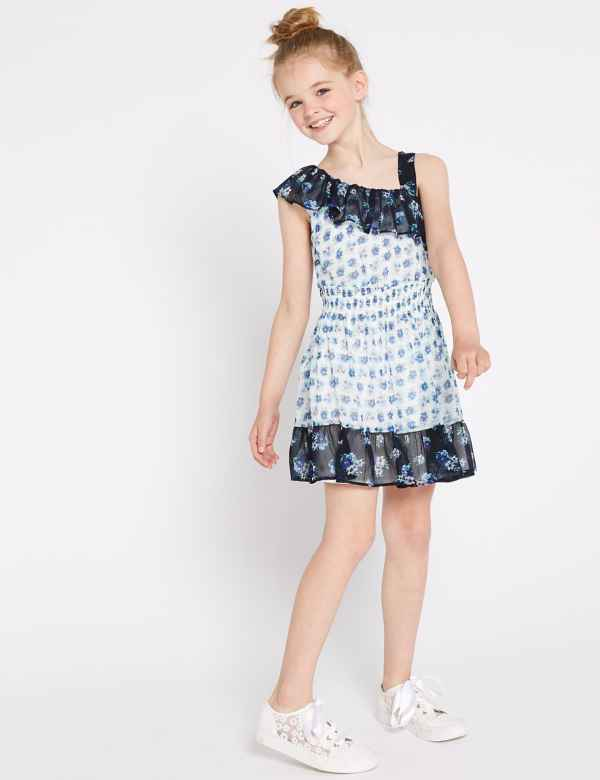 602b27f3b50 Ditsy One Shoulder Dress (3-16 Years)