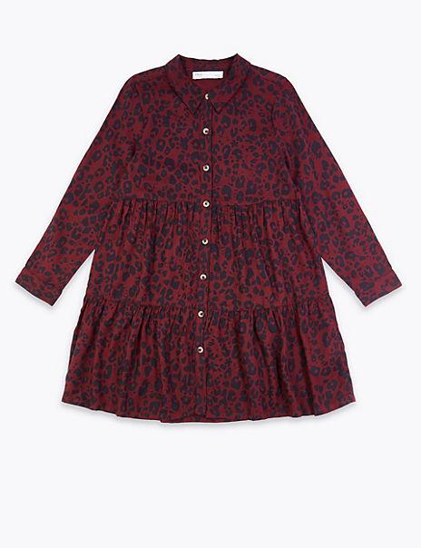 Leopard Print Shirt Dress (3-16 Years)