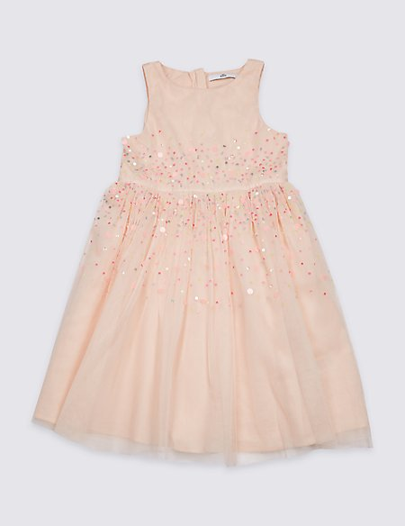 Flower Cluster Dress (3-16 Years)