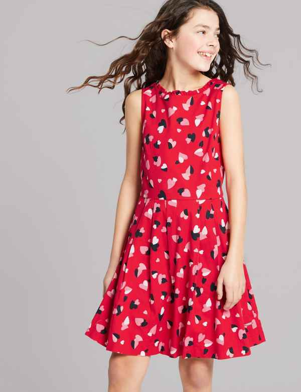 478691e49d7 All Over Heart Print Dress (3-16 Years)