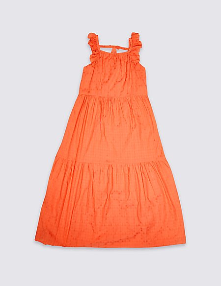Cotton Blend Maxi Dress (3-16 Years)