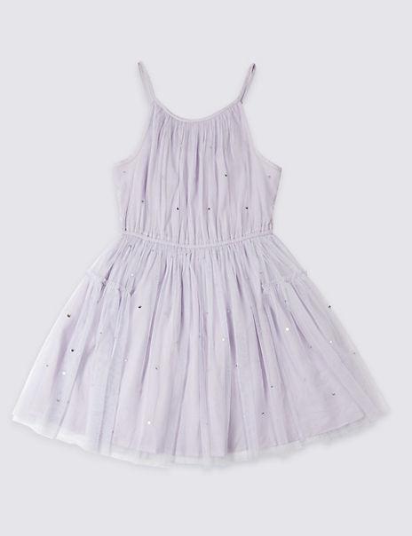 Sequin Mesh Dress (3-16 Years)