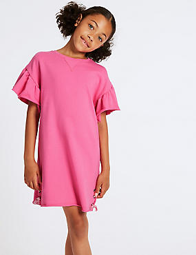 Tie Side Pure Cotton Dress (3-16 Years)