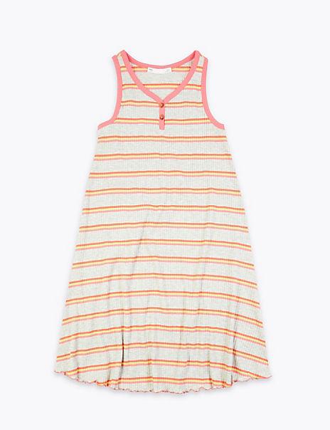 Cotton Rich Striped Dress (6-16 Years)