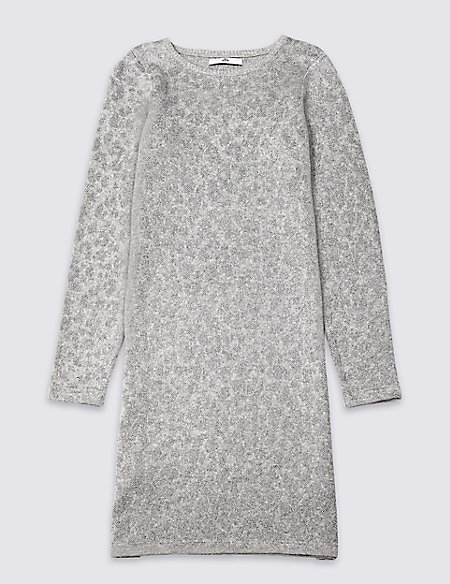 Leopard Knitted Dress (3-16 Years)