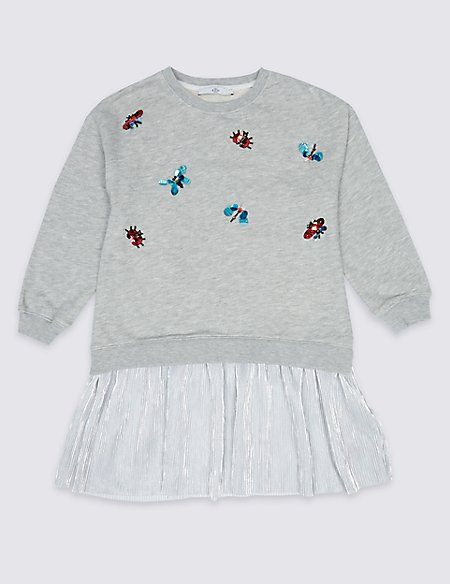Embellished Bug Sweat Dress (3-16 Years)