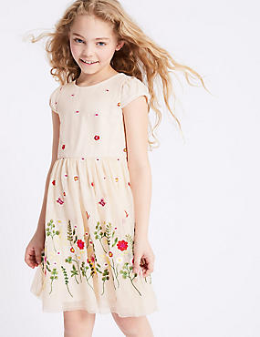 Floral Embroidered Dress (3-16 Years)