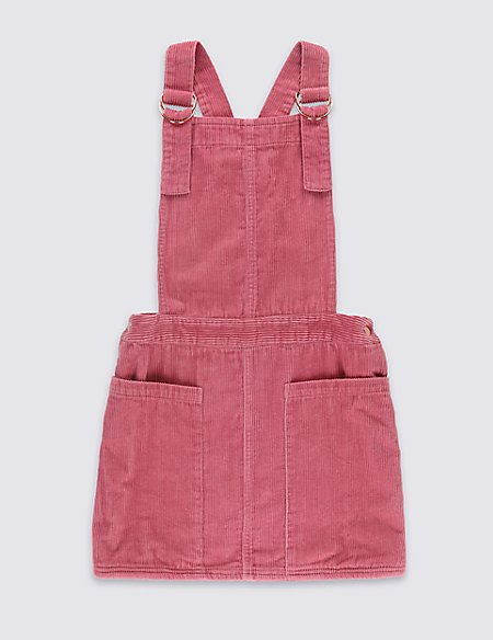 Pure Cotton Cord Pinny Dress (5-14 Years)