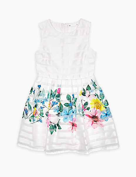Organza Floral Dress (6-16 Years)