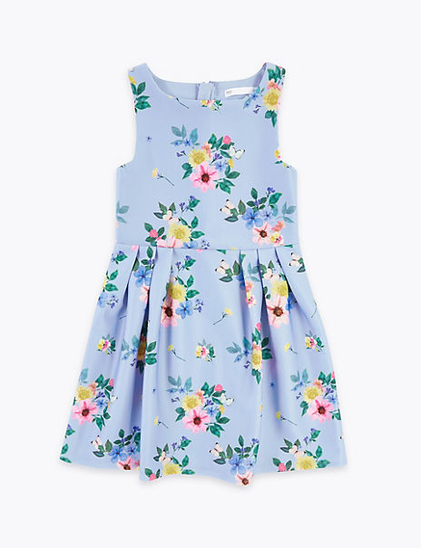 Scuba Floral Prom Dress (6-16 Years)
