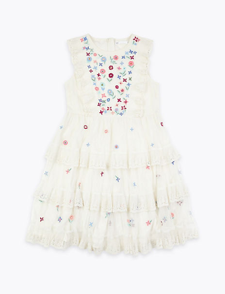 Lace Embroidered Dress (6-16 Years)