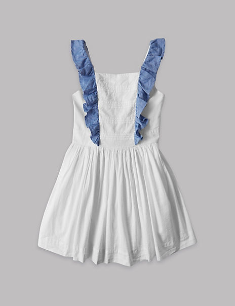 Pure Cotton Frill Dress (3-16 Years)
