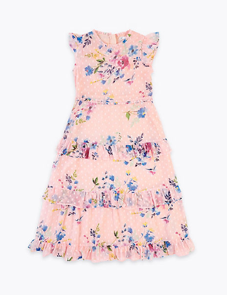 Floral Print Maxi Dress (6-16 Years)