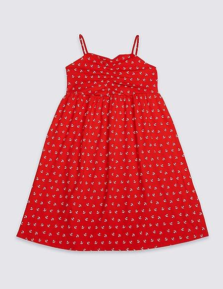 Anchor Print Dress (3-16 Years)