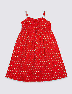Anchor Print Dress (3-16 Years)