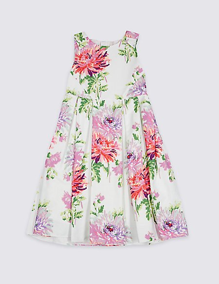 Floral Print Pure Cotton Dress (3-16 Years)