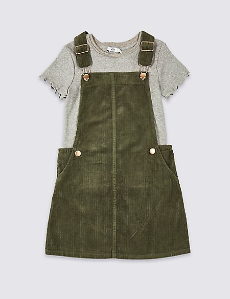 2 Piece Pinafore & T-Shirt Outfit (3-16 Years)