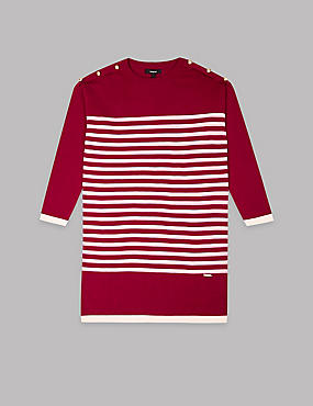 Stripe Knitted Dress (3-16 Years)