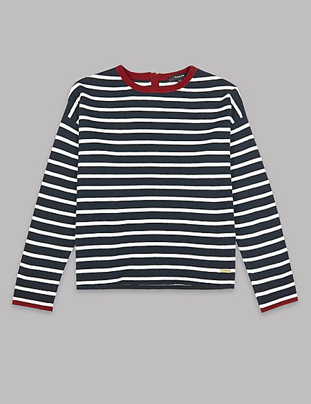 Cotton Rich Striped Jumper (3-16 Years)