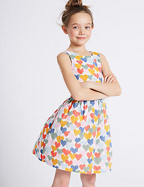 Heart Print Prom Dress (3-16 Years)