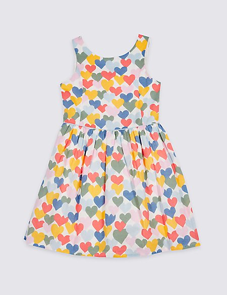 Heart Print Prom Dress (3-16 Years)