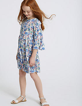 All Over Elephant Print Dress (3-16 Years)