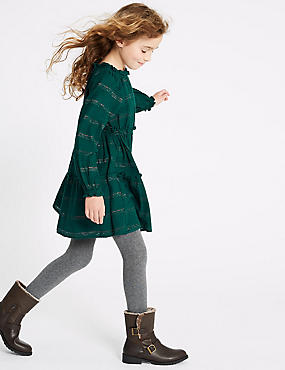 Cotton Rich Stripped Dress (3-16 Years)