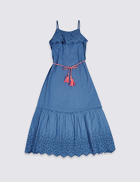 Pure Cotton Maxi Dress (3-16 Years)