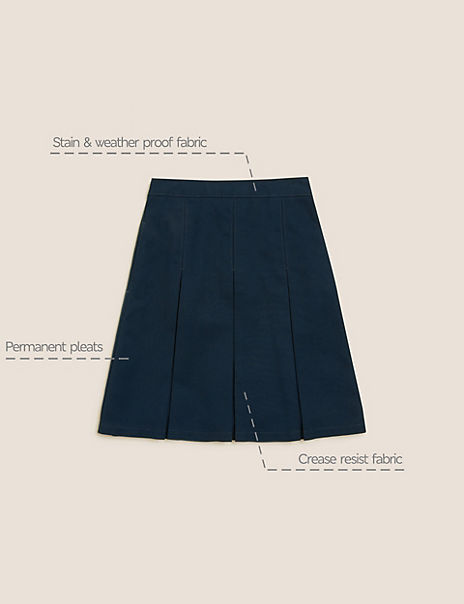 Girls' Slim Fit Permanent Pleats Skirt