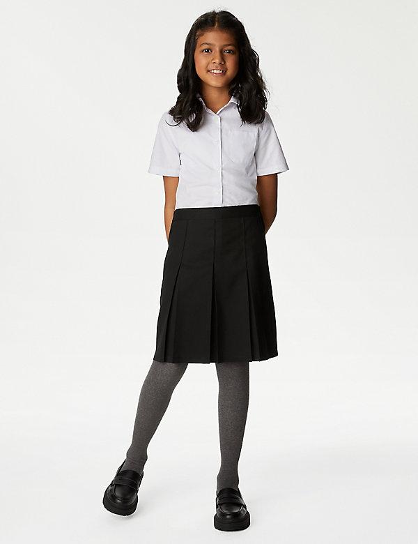 Girls' Slim Fit Permanent Pleats School Skirt (2-18 Yrs)