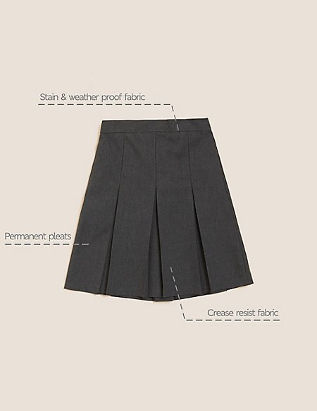 Girls' Plus Fit Skirt with Permanent Pleats