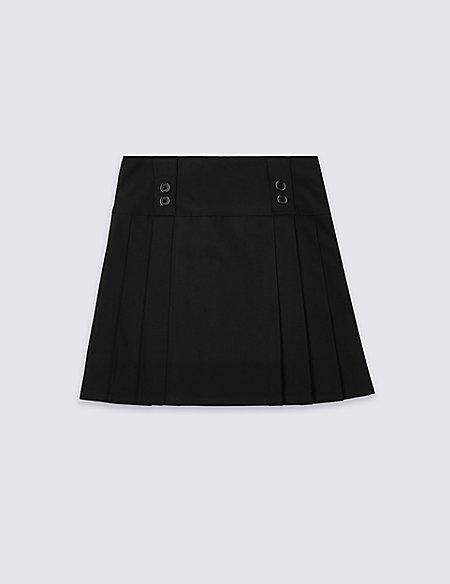 Girls' Longer Length Pleated Skirt