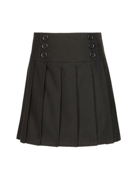 Plus Fit Drop Waist Pleated Fashion Skirt (Older Girls)