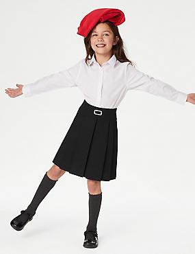 Falda escolar con pliegues permanentes para chicas (2-16años)