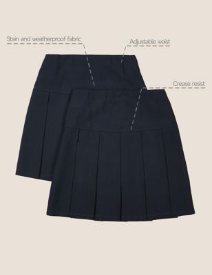 5-6 Y, Grey THE FASHIONISTA Girls School Skirt Girls Box Pleat Uniform Elasticated Skirt 2 to 18 Years