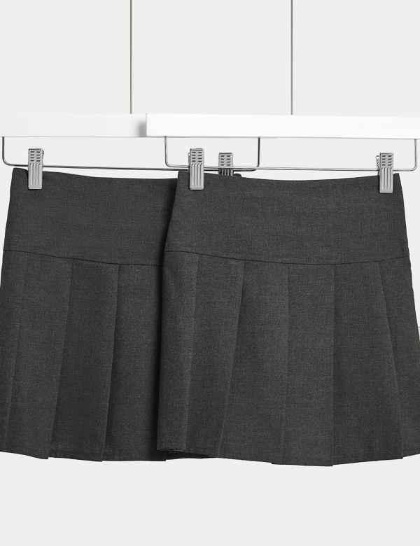 2e764bd086e 2 Pack Girls  Pleated Skirts